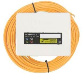 231520 -8424450183731 TELEVES - Repartidor de Cliente de Fibra Óptica 2 a 4 Saídas, 2 fibras de 15m pré-conectorizada (1)(2)