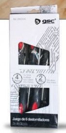 2800045 - 8436039200456 Set 6 chaves de fenda - 4 planos + 2 phillips