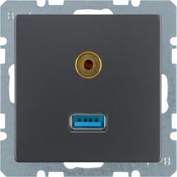 3315396086 - Q.x - USB / jack 3.5mm, antracite BERKER EAN:4011334379768