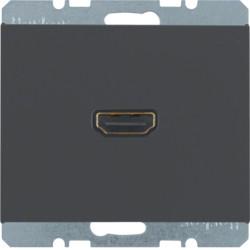 3315437006 - K.1/K.5 - tomada HDMI ficha 90º, antr mt BERKER EAN:4011334330684
