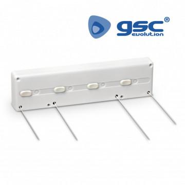 402020005 - Cordas extensíveis de varal 4 para fixar na parede 8433373038738
