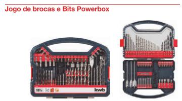 49109106 -Jogo de brocas e Bits Powerbox 62 peças