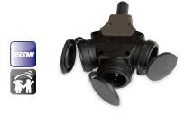 500168 - 8436021941688 Schuko triplo com orelhas para prender o cabo IP44