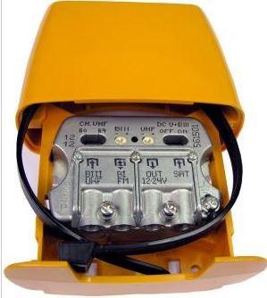"""561521 -8424450160985 TELEVES - Amplificador Mastro NanoKom 3e/1s """"EasyF"""": BIII/UHF[dc]-FMmix-FImix[dc] G 20/29- (-2) - (-2)dB Vs 105/107dBµV c/USOS. Alim. 12...24V (Passagem DC Comutável)"""