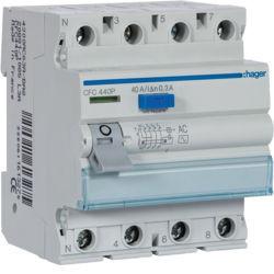 CFC440P - Inter. dif. 4P 40A 300 mA tipo AC 4 M HAGER
