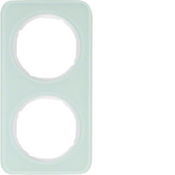BERKER - 10122109 - R.1 - quadro x2, Vidro/branco 23