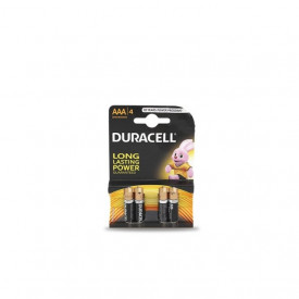 9000101 - 5000394002432 Pilha alcalina DURACEL Basic LR03 (AAA), Blister 4 Ud.