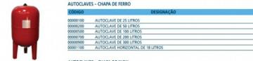 """AUTOCLAVE DE 50 LITROS CHAPA DE FERRO """"Balão 50 Lts"""" COM MEMBRANA"""