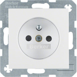 BERKER - 6765761909 - S.1/B.x - tomada FR obturad., branco mt 23
