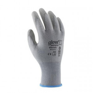 Equipamentos de Protecção - 6093 - Luva Nylon Recoberta Poliuretano Cinza T:XL