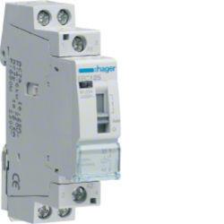 ERC125 - Contactor com manu 25A, 1NA, 230V HAGER EAN:3250612400560