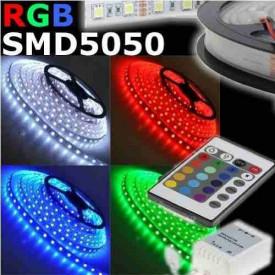 Fita LED SMD3528 60LED'S/MT 14,4W/M IP65 RGB (Rolo de 5 metros)