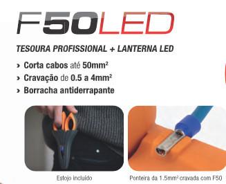 HU000746 - Tesoura Profissional F50 LED