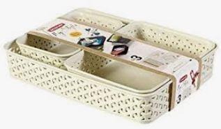 KETER CURVER 206739 Set de bandejas My Style A4+A5+A6 branco vintage P(cm)35,3 A(cm)6,5 L(cm)25,7