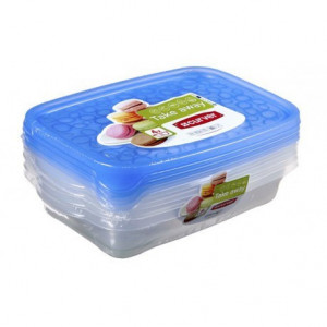 KETER CURVER 214408 Take Away Set 4x1L Rectangular P(cm)24,5 A(cm)9,5 L(cm)16,5
