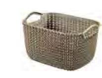 KETER CURVER 230011 Cesta Knit Rectangular S ~8L Castanho P(cm)29,6 A(cm)17,2 L(cm)22,2