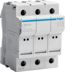 LSN403 - Corta-circuitos 3P 25A L32 3M HAGER EAN:3250614120039
