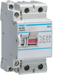 SA263 - Interruptor bipolar 2x63A 2,5M HAGER EAN:3250615512635