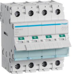 SBN463 - Interruptor Modular 4P 63A HAGER EAN:3250615510235