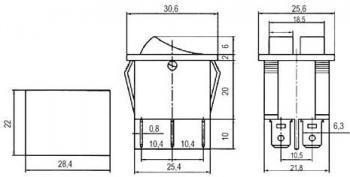 SKCD8 INTERRUPTOR BIPOLAR 2 TECLAS 15A 250V VERMELHA/VERDE