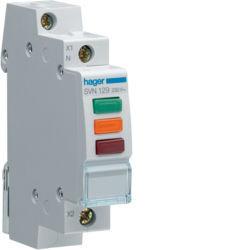 SVN129 - Sinal. triplo LED encarnad/verde/laranja HAGER EAN:3250615725486