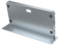 TP2231 - Topo Alumi. Silver P/Perfil INLARGO - Quant. fornecida = 1 un