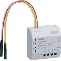 TRM693G - Micro módulo 2E + 1S ON/OFF RF 500W, c/N HAGER EAN:3250615988805