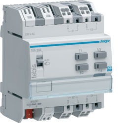 TXA304 - Módulo 4 entradas binárias 230V KNX HAGER EAN:3250616049277
