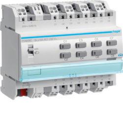 TYA608C - Actuador bin./est. 8 canais 16 KNX-S HAGER EAN:3250616059726