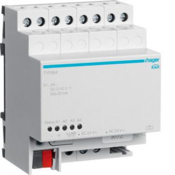 TYF684 - Actuador analógico 4 canais HAGER EAN:3250616059962
