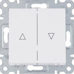 WL0310 - lumina 2 Comut. duplo p/ estores, branco HAGER EAN:8694407000378