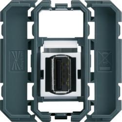 WXF642 - gallery 2M Tomada USB 2.0, paraf. HAGER EAN:3250617198929