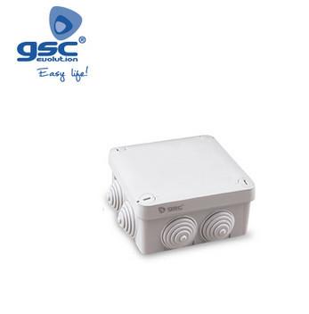 000301313 - Caixa de junção estanque cinza quadrada 105x105x55mm IP54 8433373013131