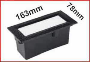 004.031.S.O.LED-84 SOFLIGHT Aplique muro CLARA 170 Rectangular Led Inox