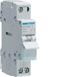 01 - SFH125 - 3250615510761 Inversor Modular s/ponto zero, 1P 25A HAGER