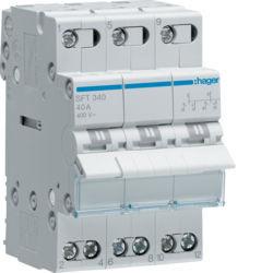 01 - SFT340 - 3250615510938 Inversor Modular c/ponto zero, 3P 40A HAGER
