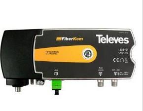 """238101 -8424450179611 TELEVES - Mini-nó Óptico FiberKom 1550nm """"SC/APC"""" sem C.Retorno (1 Fibra) com Amplificador 47...1006MHz. Tecnologia OLC (Alimentação remota)(1)"""