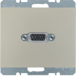 3315417004 - K.1/K.5 - tomada VGA paraf., inox lac BERKER EAN:4011334330455