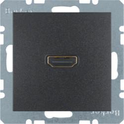 3315431606 - S.1/B.x - tomada HDMI ficha 90º, antr mt BERKER EAN:4011334330639