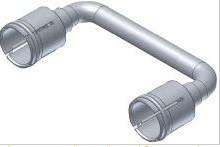 421102 -8424450182246 TELEVES - Ponte coaxial curva 43,6mm (para ligação serviços do painel 530710)