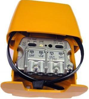 """561601 -8424450160992 TELEVES - Amplificador Mastro NanoKom 3e/1s """"EasyF"""": UHF[dc]-VHFmix-FImix[dc] G 30 - (-1) - (-2)dB Vs 107dBµV c/USOS. Alim. 12...24V (Passagem DC Comutável)"""