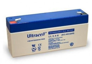 Bateria Chumbo 6V 3,4Ah (134 x 34 x 60mm) - Ultracell