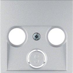 BERKER - 12031404 - S.1/B.x - espelho TV 2/3 saídas, alum mt 23