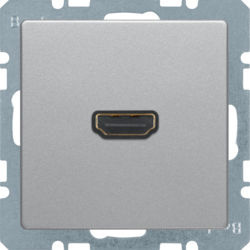 BERKER - 3315426084 - Q.x - tomada HDMI, alumínio 23