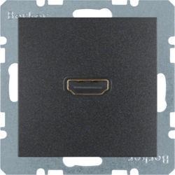 BERKER - 3315431606 - S.1/B.x - tomada HDMI ficha 90º, antr mt 23