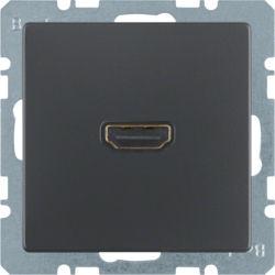 BERKER - 3315436086 - Q.x - tomada HDMI ficha 90º, antrac 23