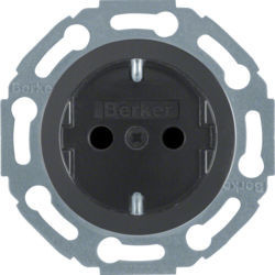 BERKER - 475501 - 1930/Gls/Plzz - tom. Schuko obtur, preto 24