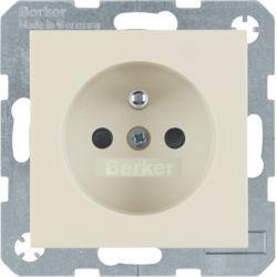 BERKER - 6765768982 - S.1/B.x - tomada FR obturad., creme 23