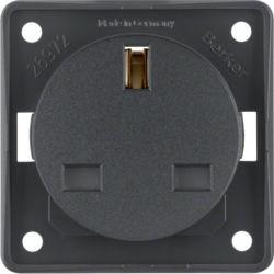 BERKER - 962622505 - Integro - tomada 2P+T BS, antracite mt 23