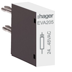 EVA205 - Supressor para 24 V para tamanho 2 HAGER EAN:3250612232154